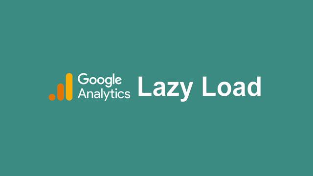 Lazy Load gtag.js (Google Analytics)