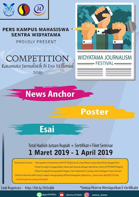 Event Widyatama Journalism Competition 2019 Mahasiswa se-Jabar
