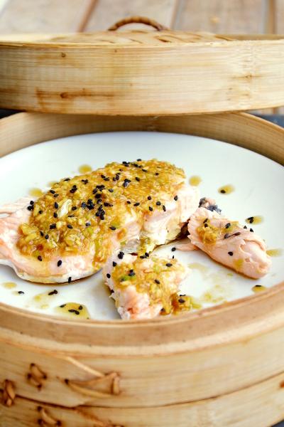 Ricetta Salmone Orientale.Tranci Di Salmone All Orientale