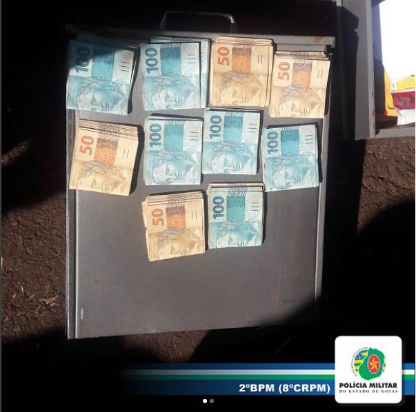 PM localiza cofre furtado em Rio Verde