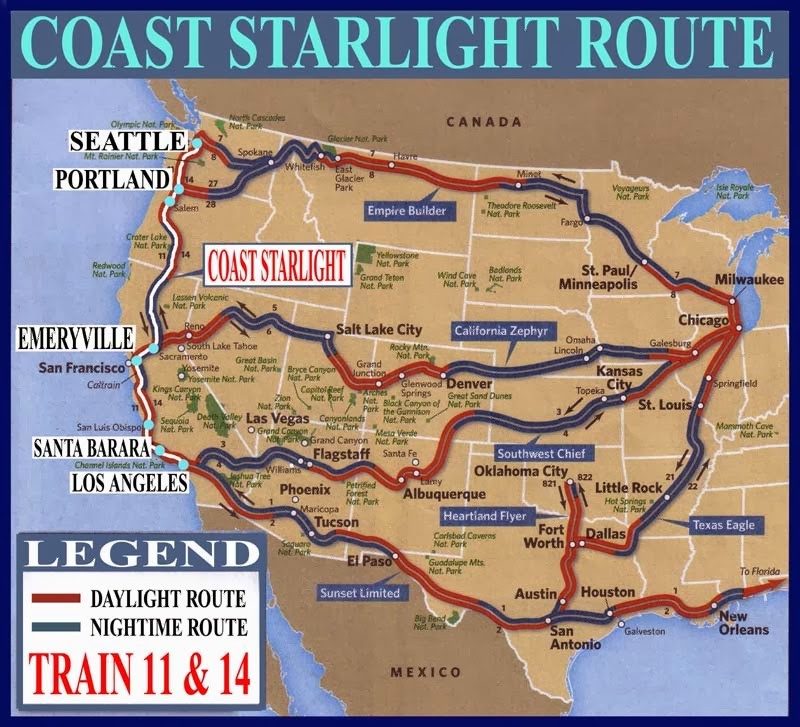 Amtrak Coast Starlight Offers Stunning Views Of The: Indelible Adventures: All Booked