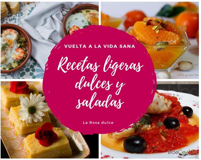 Recetas ligeras dulces y saladas