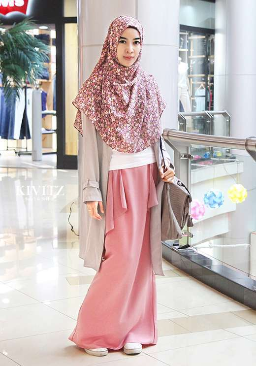 Baju Muslim Santai Kombinasi Modis Sangat Inspirasi Bagi Wanita Gaya Modern Tutorial Hijab