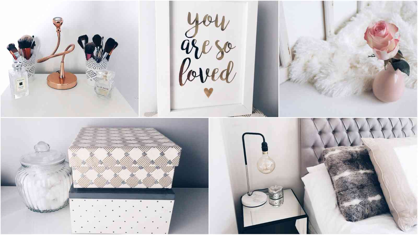 rose gold accessories and items for the home