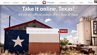 Texas.gov website screenshot