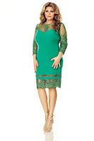 Rochie verde Plus Size Gratiela • Miss Grey