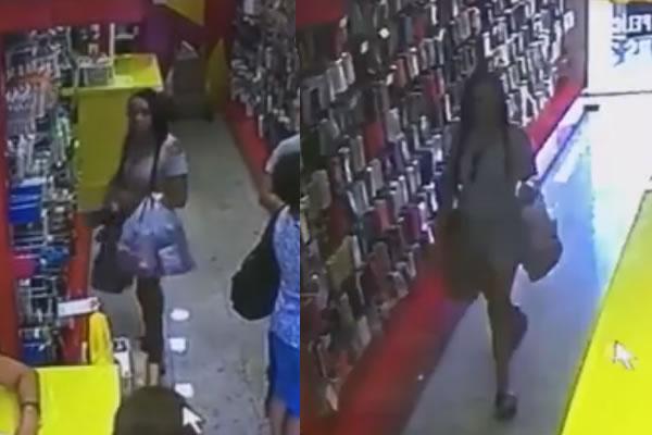 Mulher flagrada furtando lojas em Andradas (MG) pode estar em Pinhal