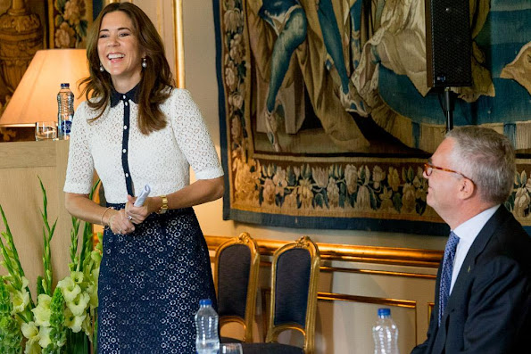Crown Princess Mary of Denmark visited the Princess Mary Foundation