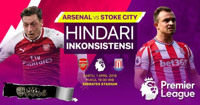 Prediksi Arsenal Vs Stoke City, Minggu 01 April 2018 Pukul 19.30 WIB