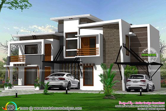 Flat roof modern residence