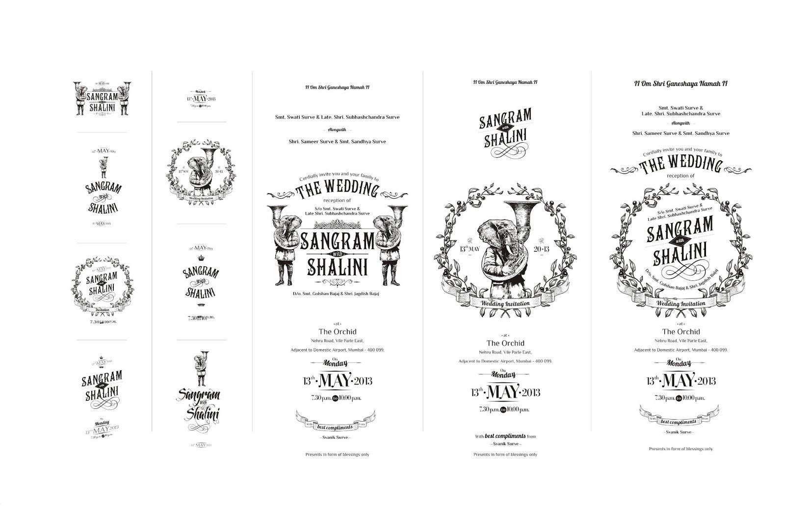 work: Typo for Wedding Card