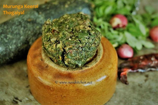 Murunga Keerai Thogaiyal | Moringa Leaves Chutney