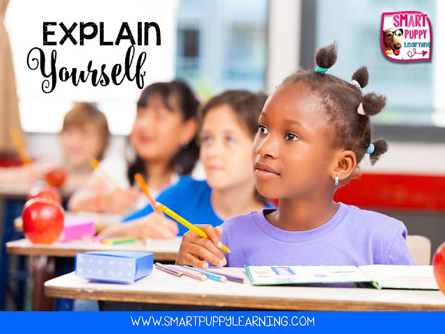 Explain your thinking to students to help them understand