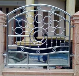 desain pagar stenlis yang simple