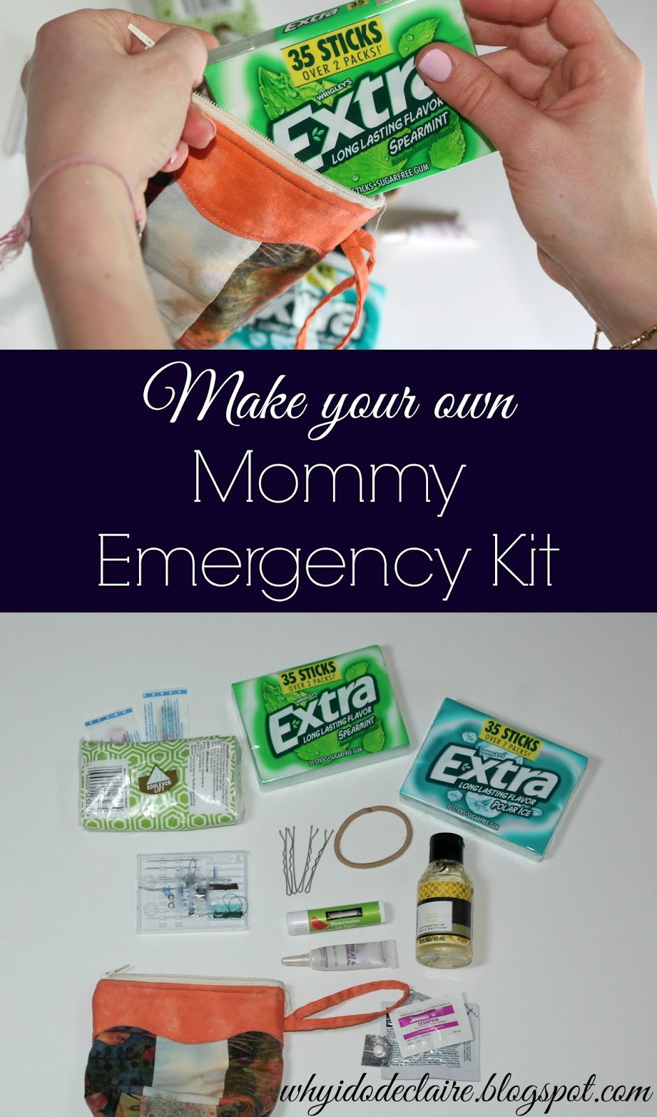 Mommy Emergency kit tutorial with Extra® Gum