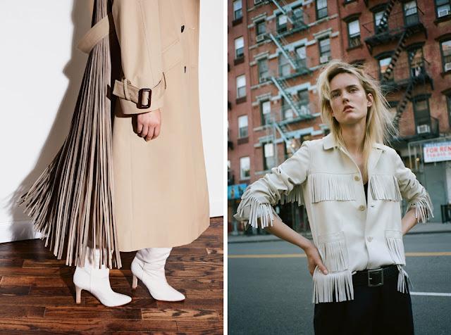 Пальто и жакет с бахромой