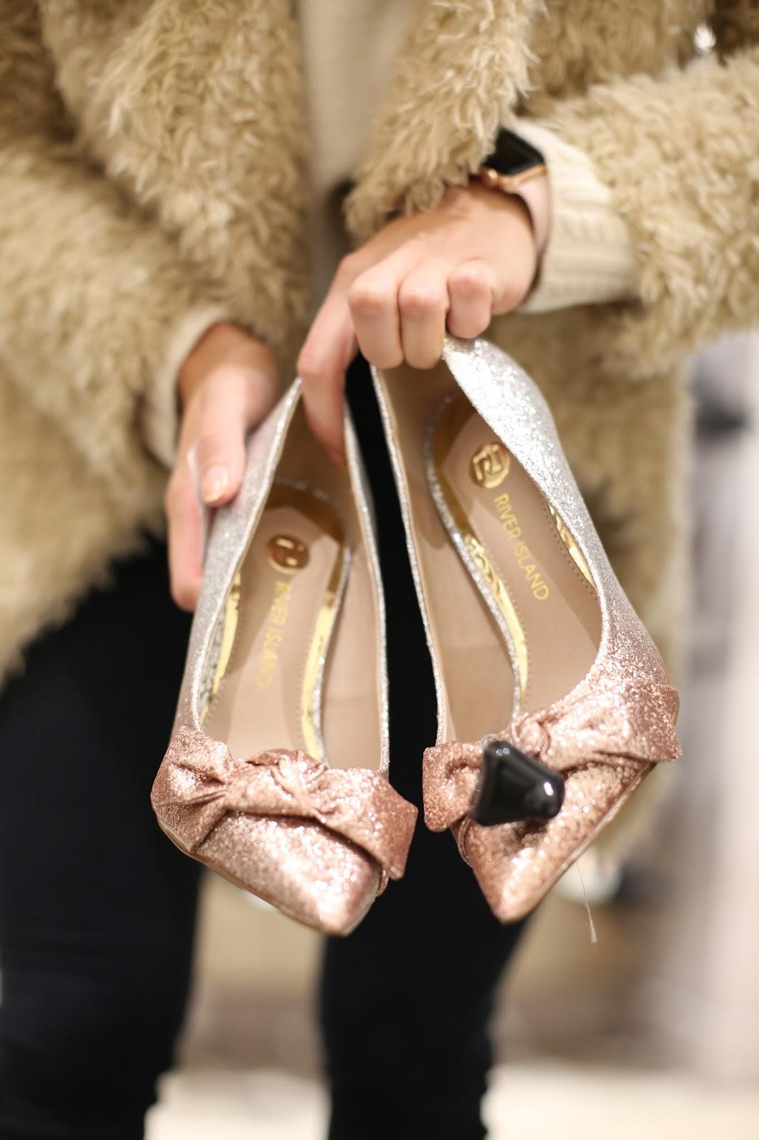 river island pink heels