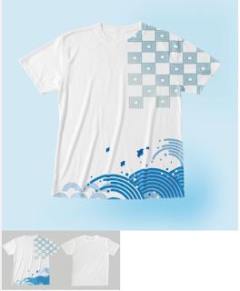 イラスト制作、全面Tシャツ、SUZURI、和風