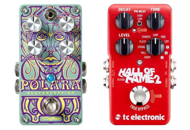 Pedales Reverb Guitarra Digitech Polara Vs TC Electronic Hall of Fame 2