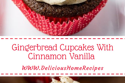 Gingerbread Cupcakes With Cinnamon Vanilla #christmas #cupcake
