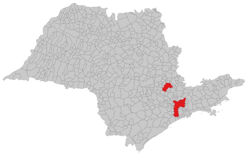 Mapa de São Paulo - estado, capital, região metropolitana