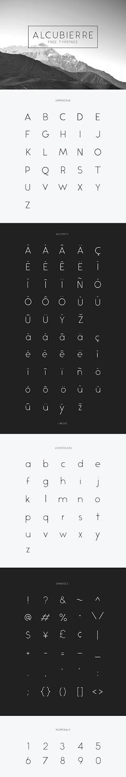 Download Gratis Sans Serif Komersial Font - Alcubierre Free Typeface