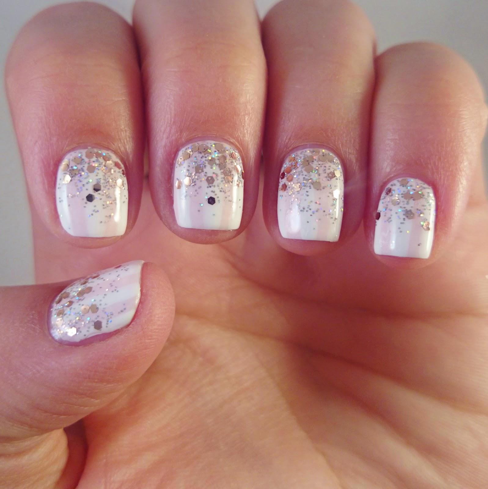 Glitter Fade Nail Designs