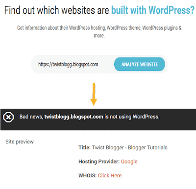 Know if a website in on wordpress or not