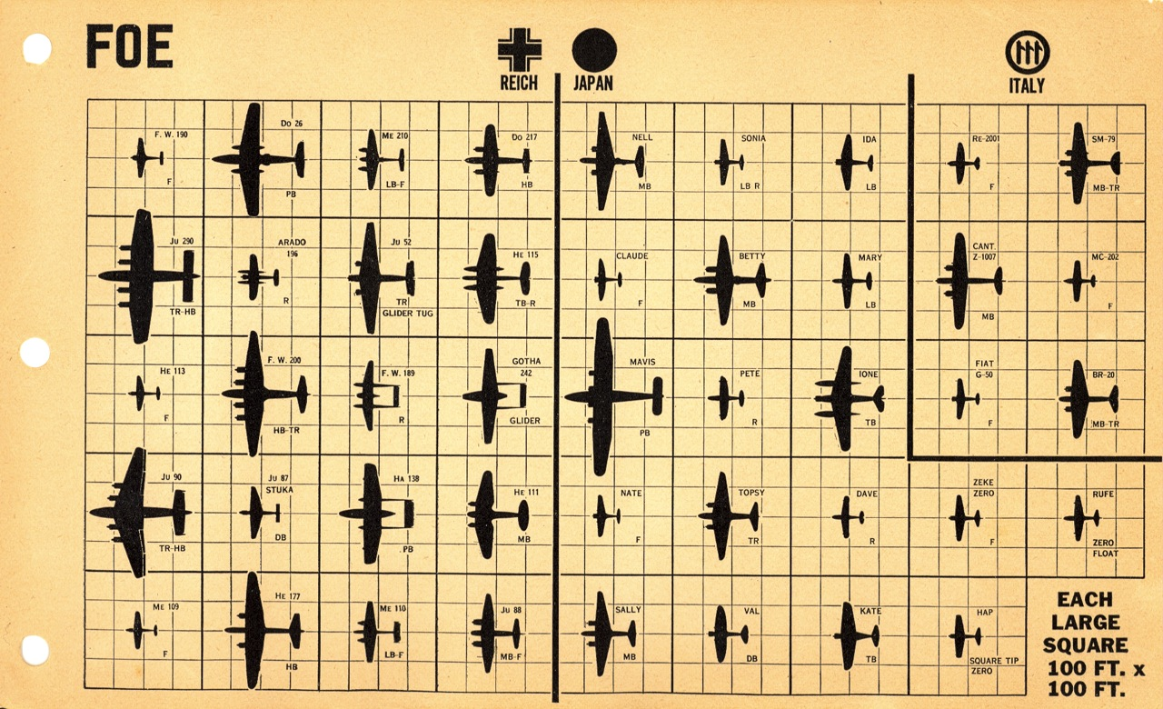 how u s pilots were taught aircraft identification historical