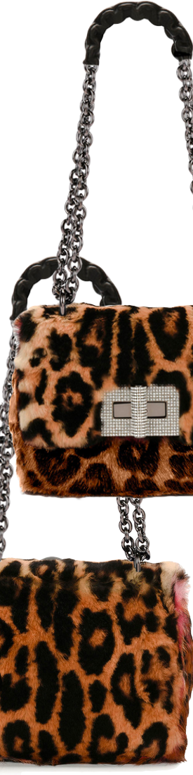 TOM FORD Natalia Large Soft Leopard Fur Shoulder Bag