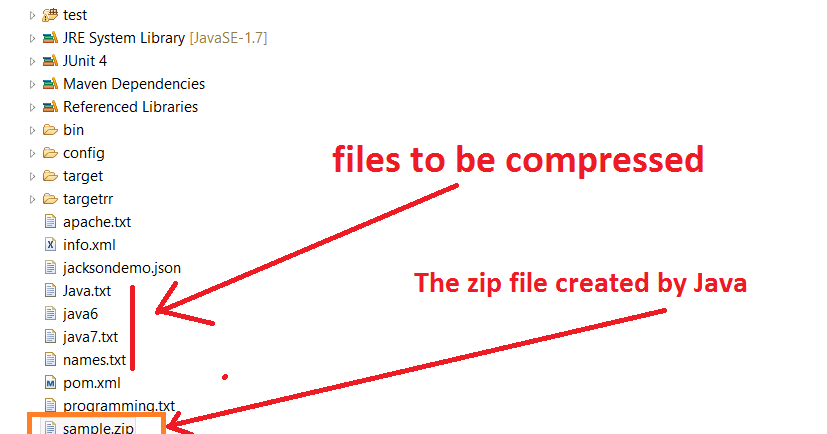 How to create a ZIP File in Java? ZipEntry and