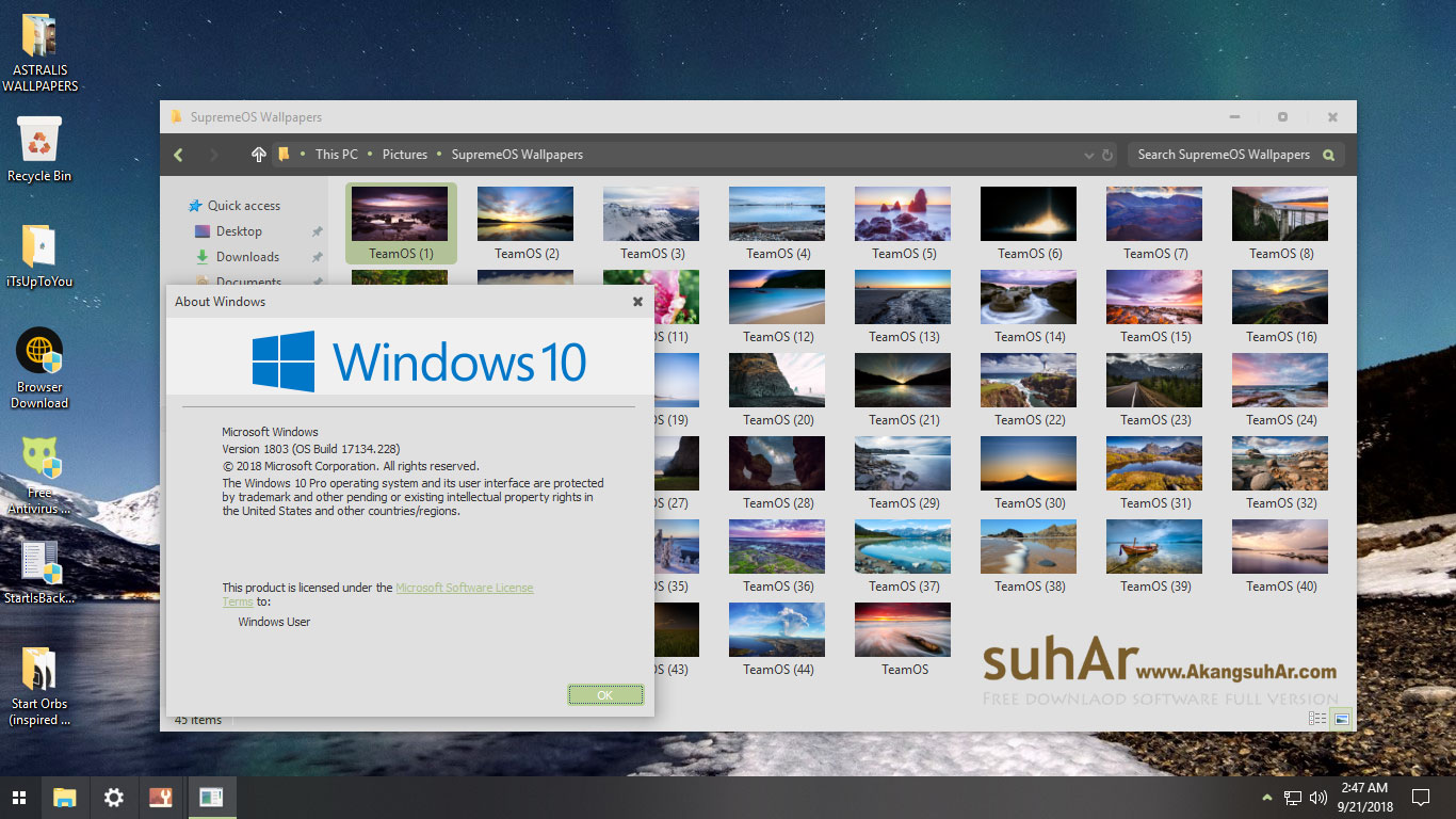 Gratis Download Windows 10 Custom Supremeos Final Full Crack Terbaru