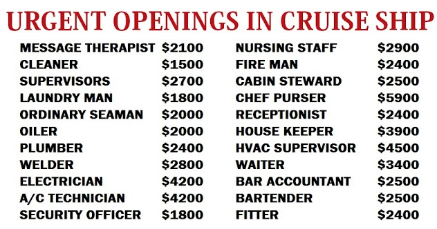Cruise Ship Nursing Job Openings