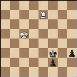 Problema de Fracesc Vivas Font, problemas SEPA 205/7, 1959, posición después de 4…Rf3!!
