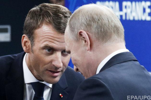 Макрон обговорить з Путіним питання України