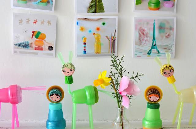 riciclo creativo con i tappi di bottiglia