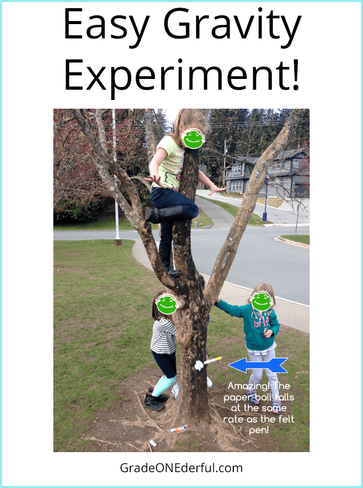 Fun and easy gravity experiment with first graders!
