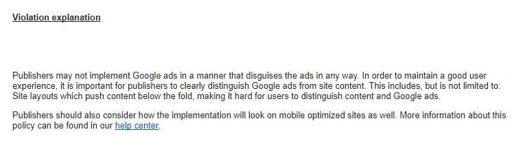 Warning from Adsense on Encouraging Accidental Clicks