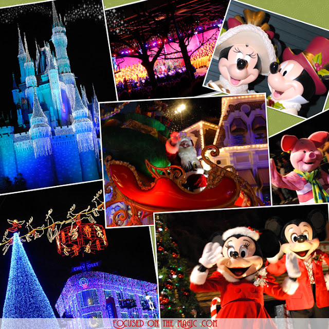 Walt Disney World December Collage
