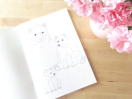 Emma Margaret Illustration Sketchbook 2016 Bear