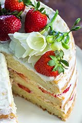 'Labor of Love' Lemon Shortcake w/ Strawberries & Cream Cheese Lemon Zest Icing (GF) (DF)