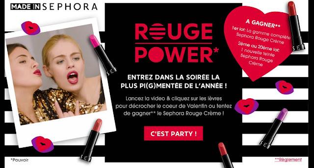 Instant gagnant 21 Lots rouge à lèvres Sephora à gagner !
