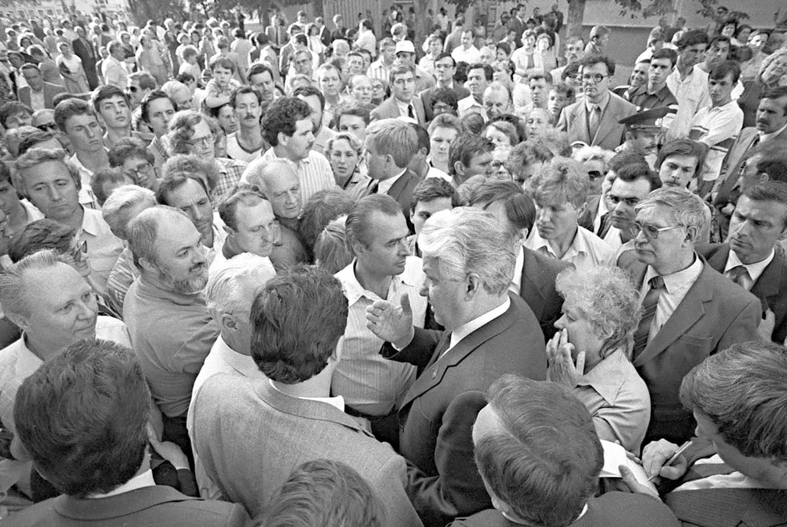 Yeltsin, first secretary of Moscow municipality. June 1987.