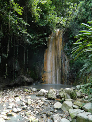 Diamond Waterfall at Diamond Botanical Gardens Soufriere St. Lucia by garden muses-not another Toronto gardening blog