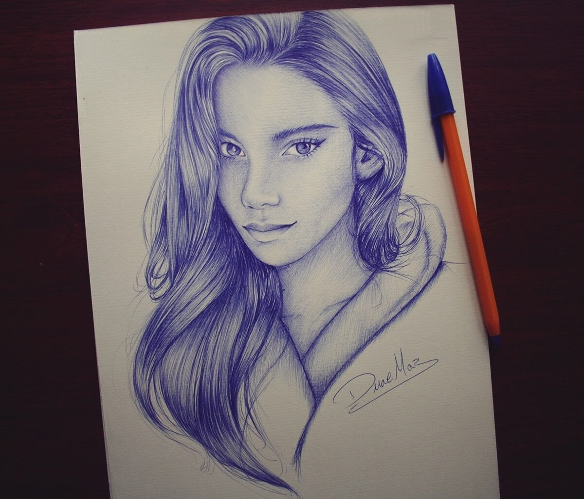 11-Duae-Maz-Blue-and-Black-Ballpoint-Pen-Portraits-www-designstack-co