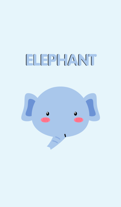 Simple Cute Face Elephant Theme
