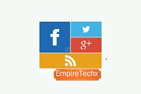How to add Social Profile Widget Metro UI on Blog & Website