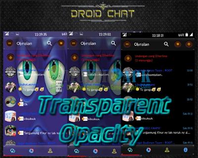 Download Droid Chat! BBM Mod v2.13.1.14 Transparent