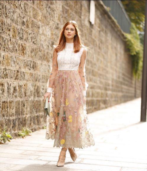 Marina Ruy Barbosa, Semana de moda Paris, viagem França com vestido de alta costura