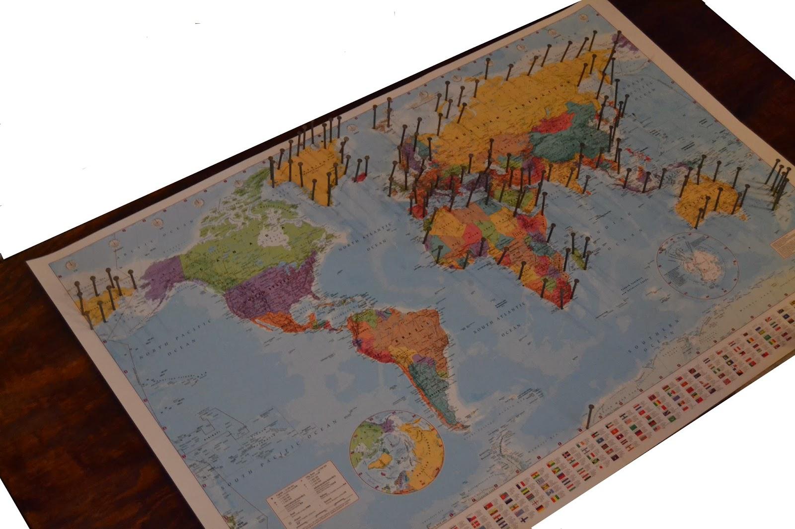 the crafty novice diy string art world map